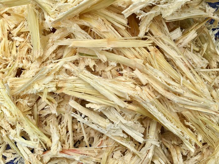 Fiber of sugarcane Feed  Paper Molasses High Angle View Full Frame Close-up No People Backgrounds Day Outdoors