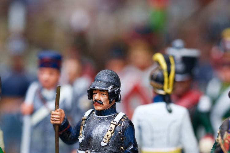 Close-Up Of Soldier Figurines