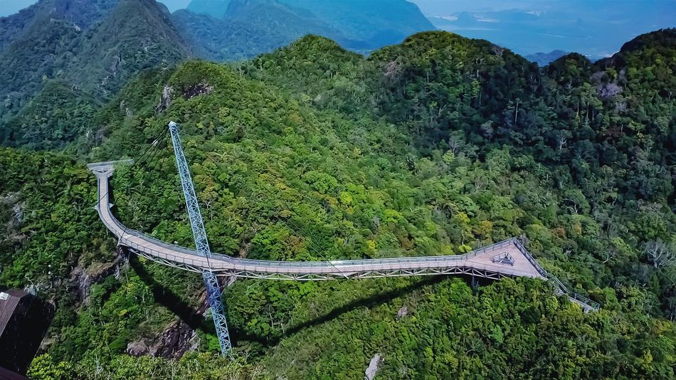 Tropical rainforest Mountain Range High Angle View Beauty In Nature Green Color Landscape Scenics No People Sky Tree Outdoors Growth Blue Scene Canopy Walkway High Elevation