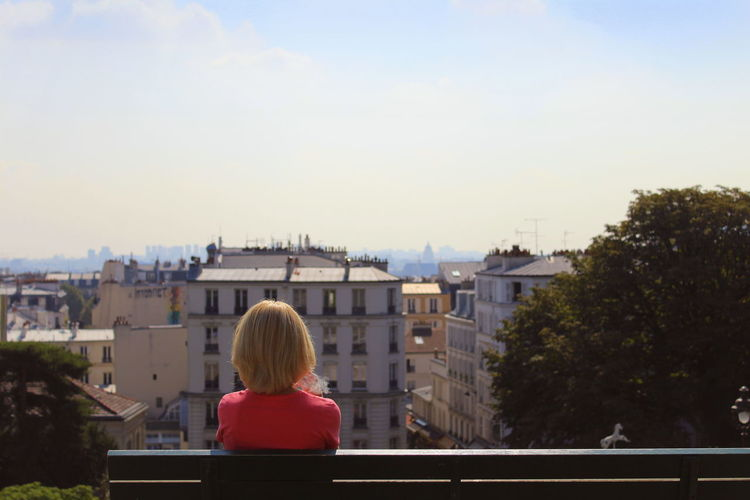 Adult Blonde City Cityscape Day One Person Outdoors Paris Real People Rear View Sky Watching Women Long Goodbye The Great Outdoors - 2017 EyeEm Awards Live For The Story Let's Go. Together. Breathing Space Your Ticket To Europe Done That. Been There. Done That. Connected By Travel Second Acts Rethink Things Rethink Things Be. Ready. The Photojournalist - 2018 EyeEm Awards #urbanana: The Urban Playground Summer In The City My Best Travel Photo The Art Of Street Photography