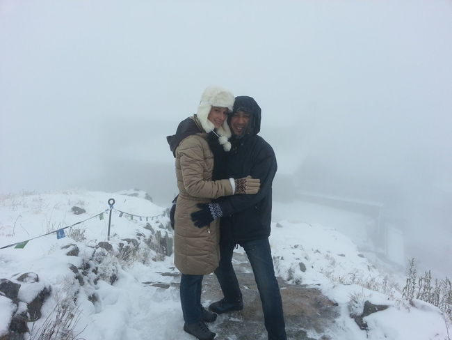 Honeymoon trip Cold Temperature Love Romance Snow Snowing Two People Vacations Warm Clothing Winter First Eyeem Photo