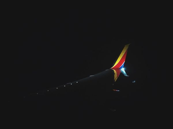 Into the night on a one way flight Airplane Wing View View From An Airplane Night Sky From Airplane Into The Night Airplane Wing Copy Space Night Nature Sky No People Water Outdoors Multi Colored Clear Sky Dark Lighting Equipment Black Background Light - Natural Phenomenon