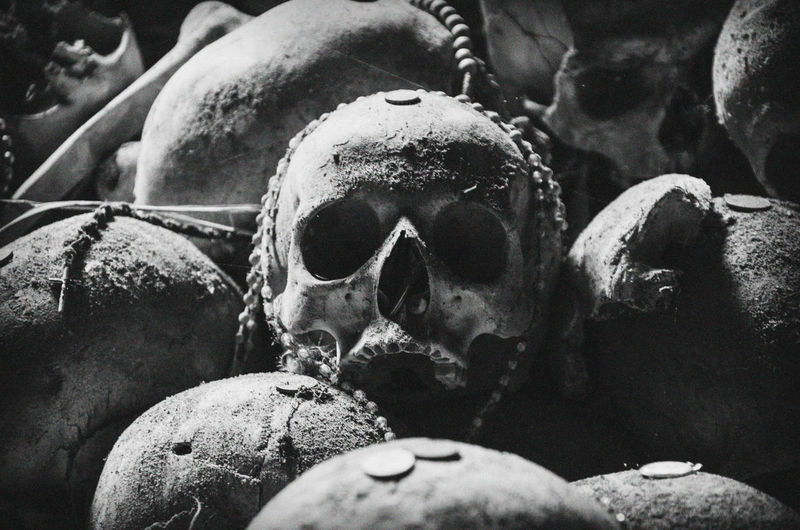 Cemetery Cimitero Delle Fontanelle Death Naples Napoli Cemetery Close-up Creepy Day Fontanelle Grave Human Bone Human Skeleton Human Skull Indoors  Memorial Superstition
