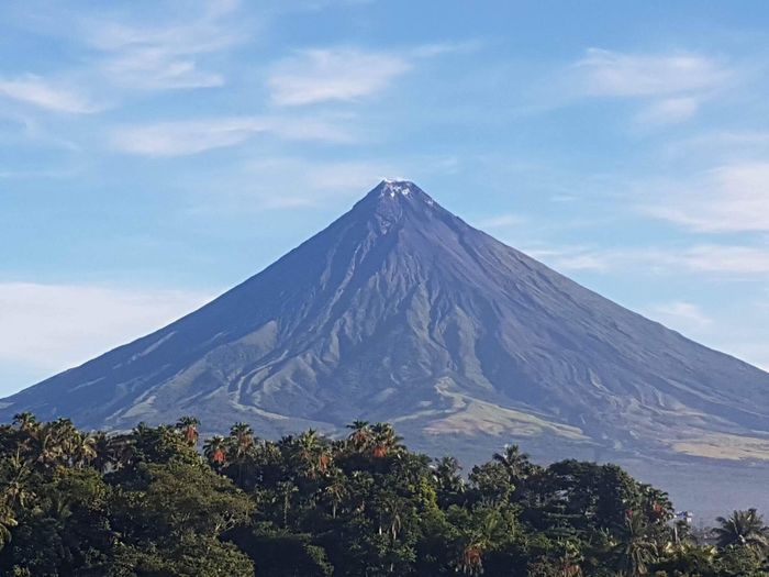 Mountain Sky Volcano Nature Beauty In Nature Scenics Tranquility No People Day Tranquil Scene Cloud - Sky Outdoors Landscape Tree Philippines Mayon Volcano Philippines