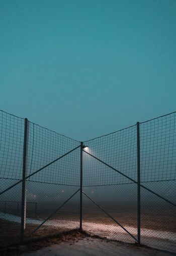 LINE Foggy EyeEm Best Shots Fog Sky Fence No People Nature Boundary Barrier Water Land Net - Sports Equipment Security