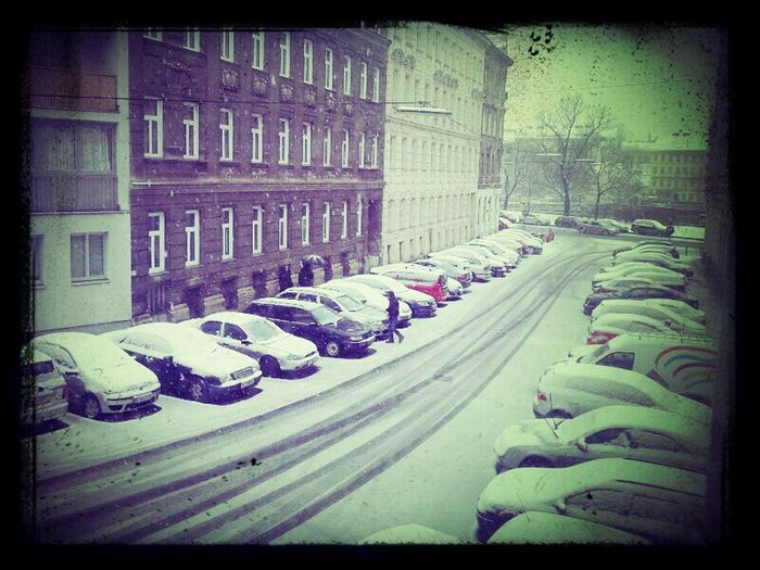 Snow In Vienna...still Raining In Upper Austria