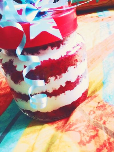 Time to indulge Cake♥ Cakeinajar Redvelvet Relaxing Pune