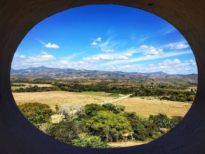 Taking in the view from an old slave lookout tower. Built in 1816 it is 45m high and is the oldest and tallest of its kind in Cuba. It gives amazing views of the Valle de los Ingenios or Valley of the Sugar Mills. Cuba Cuba Collection Landscape Landscape_Collection Nature Photography Nature On Your Doorstep EyeEm Nature Lover Exploring Aerial Shot Looking Down Enjoying The View IPhoneography Travel Photography Landscape_photography Sky And Clouds Taking Photos