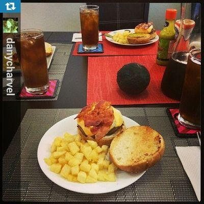 SundayFunday Homemade Burgers Bacon lotsofbacon Repost from @danycharvel with @repostapp
