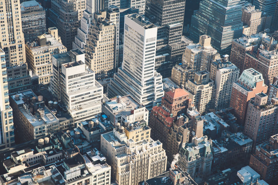 Architecture Architecture Building Exterior City City Life City Street Cityscape Cold Downtown District Empire State Building Manhattan Modern Morning New York New York City No People NYC Outdoors Roof Rooftop Skyscraper Sunrise Travel Destinations Urban Skyline Winter