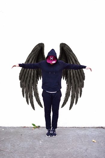 Angels Angel Dark Angel One Person White Background Studio Shot Nikonphotography NYC Street Photography Nikon 35mm Dx 1.8 Nikon D3300 NYC Street NYC Photography Nikond3300 Being Creative. Expressing Myself. Being Creative. Wings Posing Posing For The Camera Outdoors Today's Hot Look Portrait