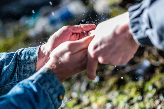 Water Hand Human Hand Human Body Part Adult Men People The Street Photographer - 2018 EyeEm Awards Two People Outdoors Couple - Relationship Emotion