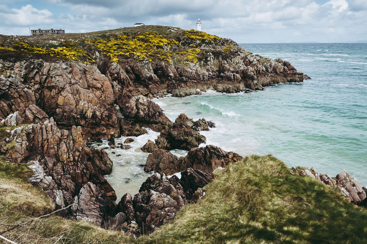 Ireland Rock Sea Water Rock - Object Solid Sky Beauty In Nature Scenics - Nature Land Tranquility Tranquil Scene Beach Nature No People Day Outdoors Rocky Coastline Coast Coastline Coastal Landscape Seascape Cliffs United Kingdom