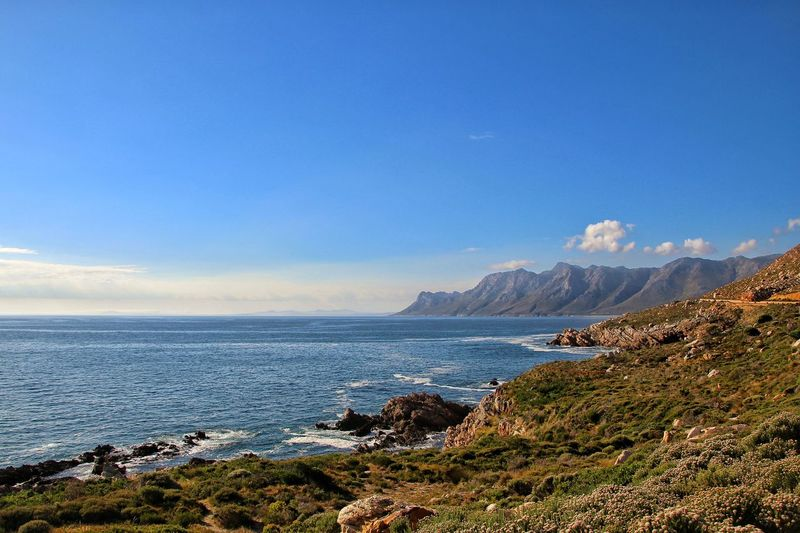 Sea Beauty In Nature Mountain Nature Water Outdoors Beach Scenics No People Day Landscape Blue Sky South Africa Cape Town Horizon Over Water