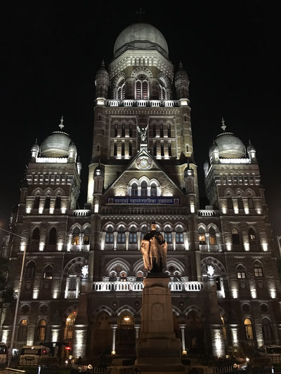 Municipal Corporation Building Architecture India Mumbai Nightphotography Building Building Exterior City Low Angle View Nighlife Night Nightlights No People Outdoors Politics And Government Travel Destinations Whitelight