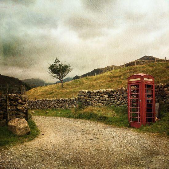 Lake District Cumbria Red Phone Boxes Phone Box Landscape Landscape_photography Eyem Best Edits Stackablesapp Taking Photos Hills Hillside
