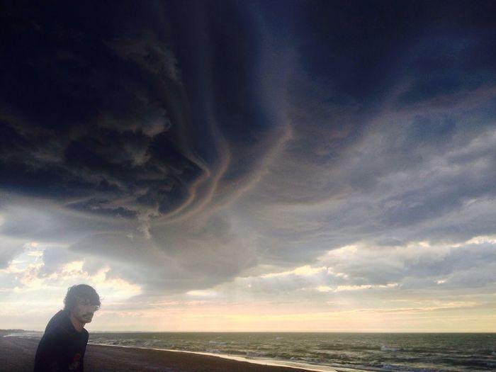 On The Beach Cloud And Sky
