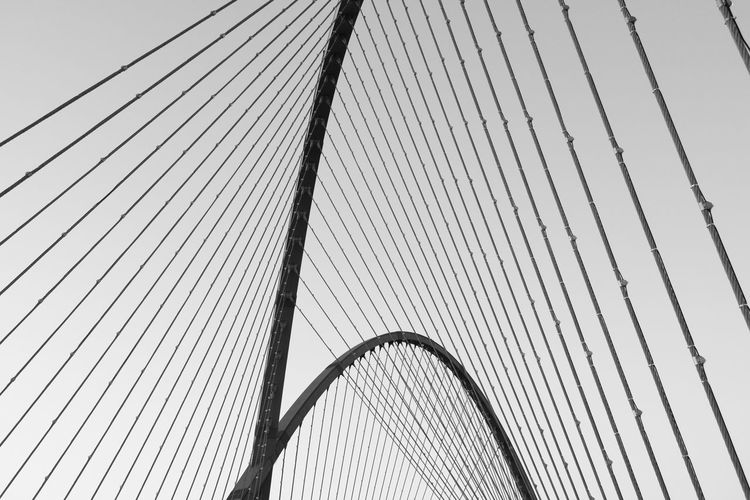 Background Iron - Metal Bridge - Man Made Structure Beautiful Lines Curves And Lines Harmony Picture Softness Strong And Soft Structures & Lines Black And White Korea Photos