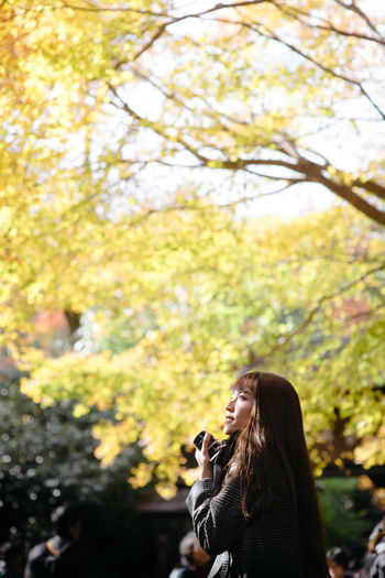 Japan Solo Traveler! Travel Autumn🍁🍁🍁 Focus On Foreground Kyoto Women Young Women