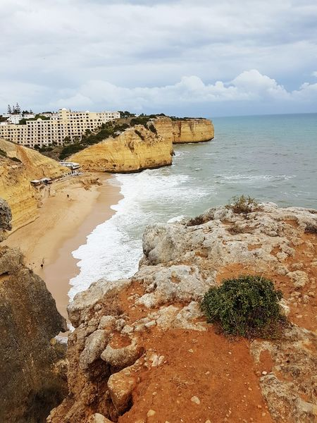 Beautiful Algarve Portugal Water Sea Cloud - Sky Beach Sky Nature Horizon Over Water No People Horizontal Outdoors Scenics Sand Vacations Wave Day Tranquility Simplicty Exceptional Photographs Rock - Object :-):-):-)