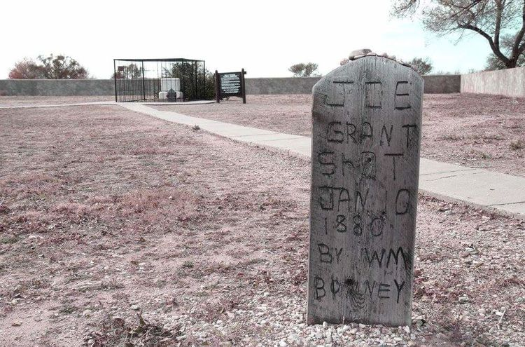 Day No People Outdoors Graveyard Gravestone Billy The Kid Western Desert Fort Sumner, New Mexico