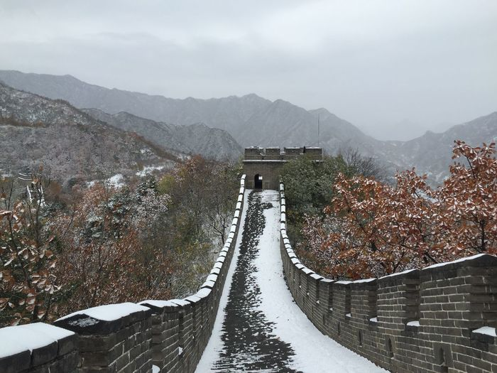 The Great Wall of China in a snowy fall mood... Found On The Roll IPhoneography China Great View Nature's Diversities