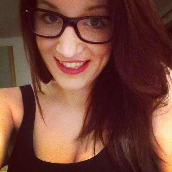 Dyed My Hair Dyed Hair Brown Hair Red Lips Smile Black Glasses Girl Picoftheday