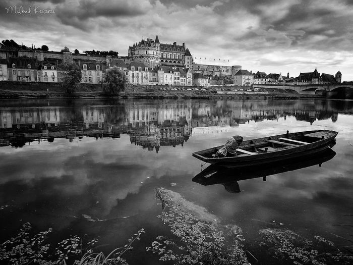 Boat Photooftheday France EyeEm Selects Water Nautical Vessel Reflection Lake Sky Cloud - Sky Scenics Idyllic Tranquil Scene Tranquility Calm Standing Water Horizon Over Water Non-urban Scene