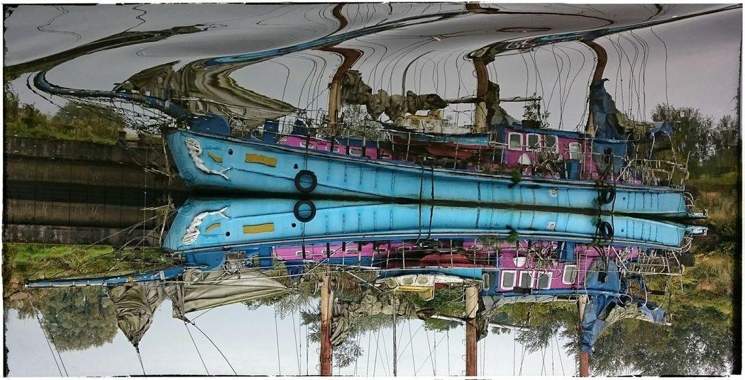 Water Reflections Sail Boat Dreimaster BottomsUp Grachtentour Friedrichstadt Enjoying The Sights Nordsee Northsea