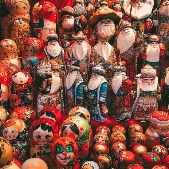 Matryoshka party Matryoshka For Sale Market Large Group Of Objects Retail  Market Stall Variation Abundance No People Multi Colored Full Frame