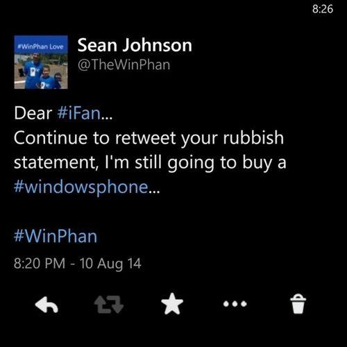 regram @thewinphan My thoughts on the anti Windowsphone meme floating around recently. Winphan Msft WP8 windowsphonefan