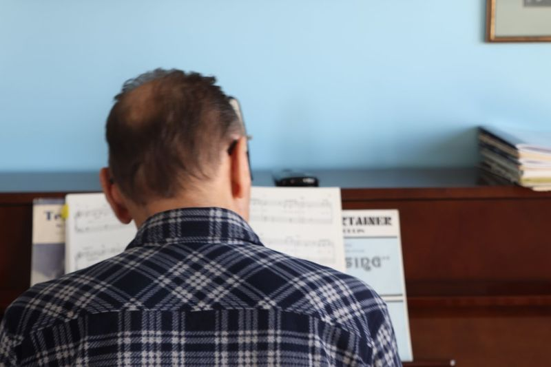 The piano man. Musical Instrument Playing Piano EyeEm Selects Rear View One Person Headshot Men Real People Indoors  Lifestyles