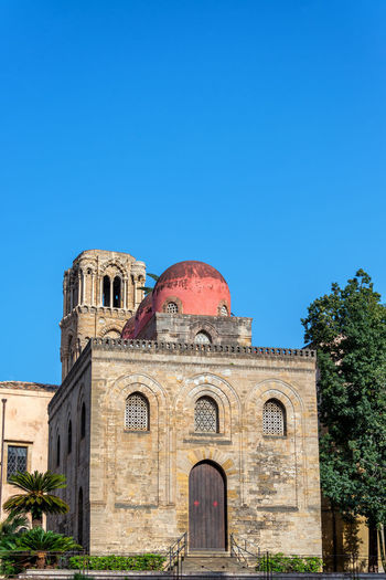 Exterior view of San Cataldo church in Palermo, Italy Ancient Bellini Church City Palermo San Cataldo Santa Architecture Building Building Exterior Chiesa Cupola Dome Europe Historic Italian Italy Landmark Martorana Monument Outdoors Religion Tourism Tower Travel
