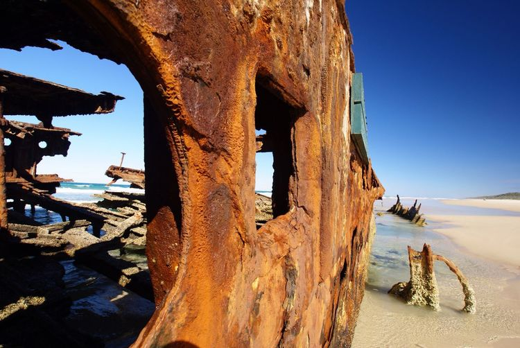 Maheno Shipwreck Wreck Fraser Island Australia