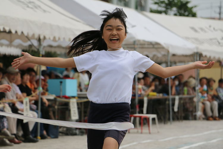EyeEm Selects Competition Sports Race Smiling Portrait Cheerful Athlete Happiness Sport Women Young Women Finish Line  Track And Field Sports Track Finish Line  Track And Field Event Track And Field Athlete