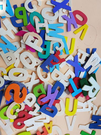 Alphabet A To Z Toy Colorful Close-up Closeup No People Heap Many Photography Scattered Vivid Play Background Patterns & Textures Pattern Backgrounds Dull Cute Backdrop Macro