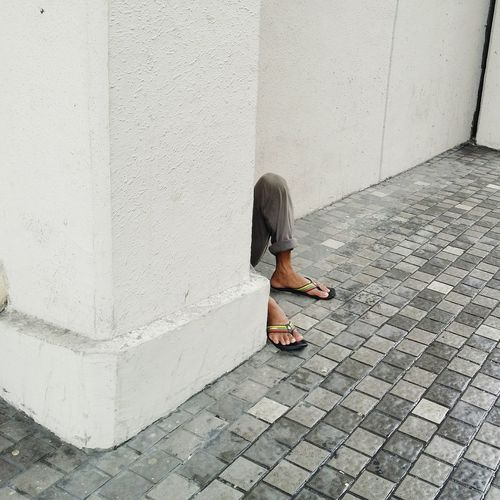 Street Photography One Person Outdoors Day Real People Human Body Part Phillipines Local ASIA No Face Feet Slippers