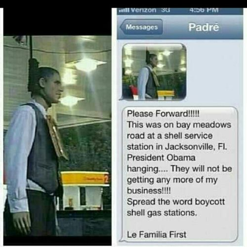 PPL please b aware racism still exist damn....Imallforobama Wehavetovote Thiscouldbu