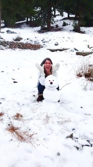 Snowman Snow Day Snowwhite Hanging Out Enjoying Life Azusa CA