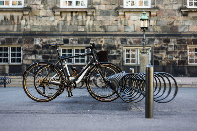 City of bicycles Bicycle Bicycle Rack City Land Vehicle Mode Of Transport No People Stationary Transportation