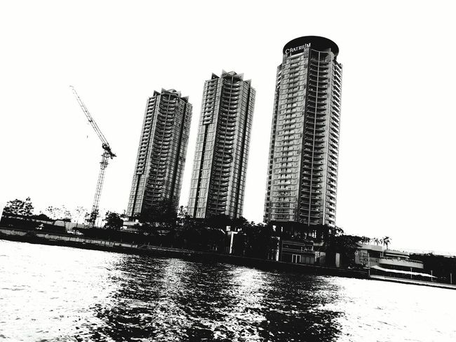 Architecture Condominium Black & White Bangkok Luxurylifestyle  City Cityscape No People Bangkok, Thailand Thailand Embrace Urban Life Business Finance And Industry Cityscape Photography City Skyline Chaophraya Riverfront Riverside Outdoors Luxurylifestyle  Gentrification Urban Water City Sky Day