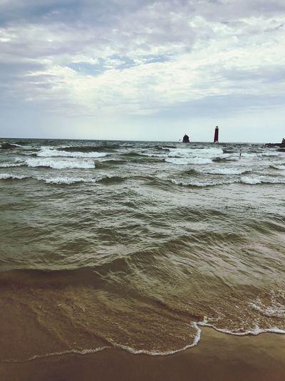 Lake Michigan Beach Nature Sand Lake Michigan Wave