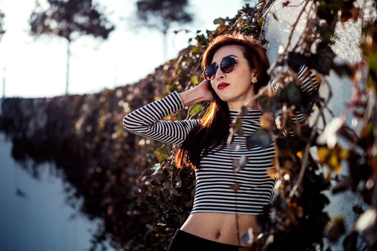 Russia Adult Adults Only Beautiful People Beautiful Woman Beauty Day Fashion Fashion Model Ivy Lifestyles Looking At Camera Nature One Person One Young Woman Only Outdoors People Portrait Real People Russian Girl Standing Striped Tree Young Adult Young Women