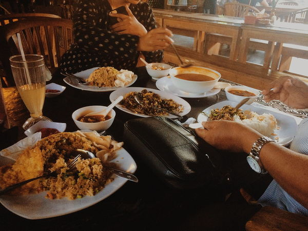 Human Hand Plate Table Close-up Food And Drink Fried Rice