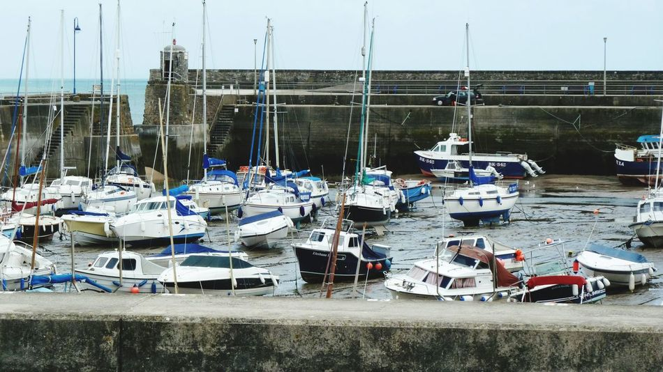 Nautical Vessel Sea Beach Day Transportation Moored Outdoors No People Harbor Water upcoming tide Saundersfoot