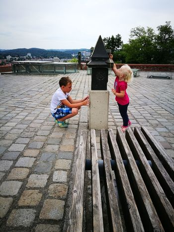 Niece 💕 Nephew ♡ Uhrturm Schlossberg Childhood Boys Girls Littlepeople