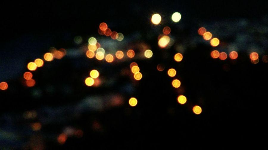 Blurry Lights Nightlights Nightshot Town Colors