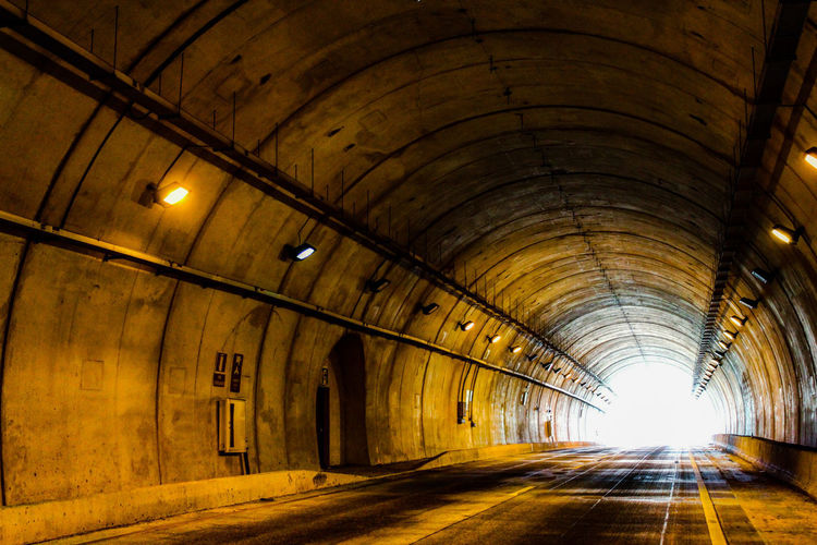 The Way Forward Illuminated Empty Indoors  Tunnel Architecture Ceiling Built Structure Arch No People Day