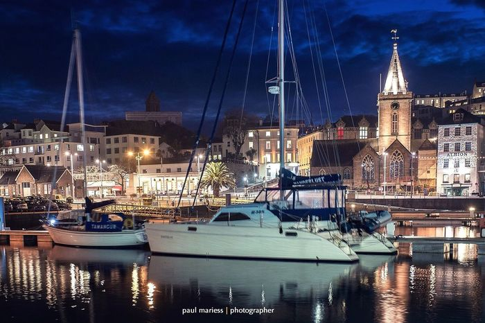 Guernsey Seascape EyeEm Best Shots - Landscape EyeEm Best Shots Eye4photography  Harbour Water_collection Boat Yacht Nightphotography Night