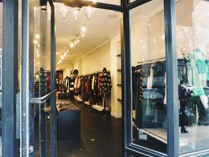 Panoramic view of store